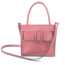 Square buckle decorative leather shoulder bag handbag