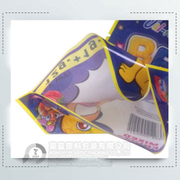 Plastic Three Side Sealing Bag for Candy