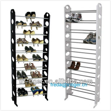 10 Tier 30-Pair Plastic Shoe Racks Tower