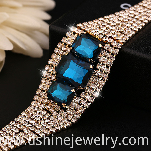 Shiny Crystal Bangle Bracelet