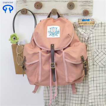 Vintage canvas backpack with large capacity for drawstring