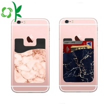 Fashion Silicone Phone Wallet Marble 3M Card Holder