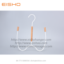Bottom price for Wooden Clothes Hanger EISHO White Wood Metal Scarf Belt Hanger Hooks supply to United States Factories