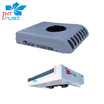 Roof electric split truck cooling unit