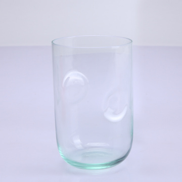 Hand Blown Lignt Green Vase Glass