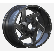 6 Spoke Pick Up Wheel 8x165 Flat Black