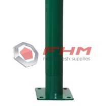 Round Post with PVC Coated Galvanized Metal