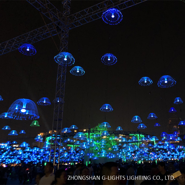 Jellyfish Fiber Optic Light In Landscape Lighting Project