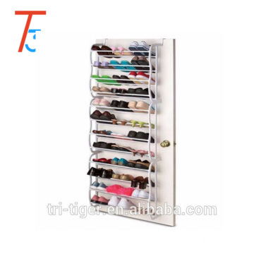 36 Pair Over the Door Wall mounted Metal Folding Shoe Rack