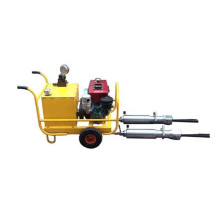 Hydraulic mining rock splitter with power pack