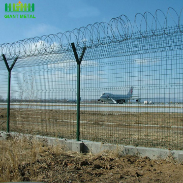 High Safety Airport Fence With Razor Barbed Wire
