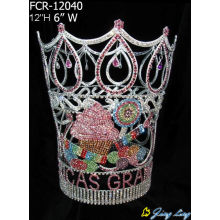 "China for Large Tiara Pageant Crowns Royal Tall Crown 12"" Cupcake Icecream Large Round Pageant Crowns export to Yugoslavia Factory"