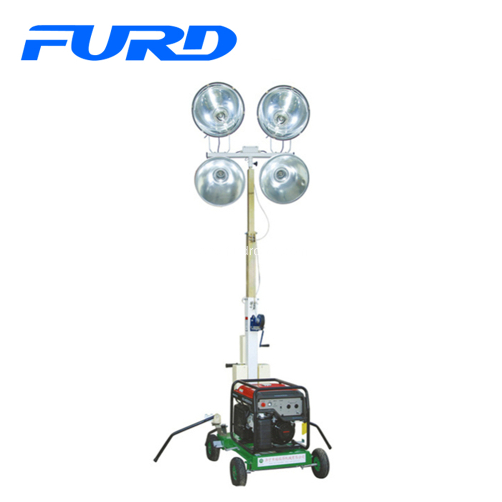 Easy Control Mobile Light Tower With Generator