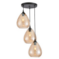Glass shade pendant lamp vintage hanging light