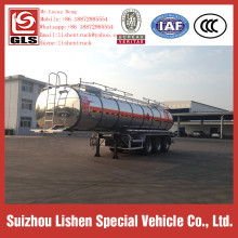 Aluminum Alloy Semi Trailer Liquid Sulphur Trailer