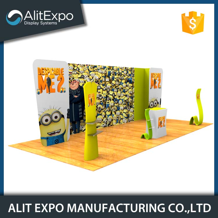 Free design acrylic exhibition trade show display booth