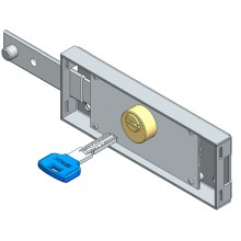 Fast Delivery for Metal Roller Shutter Door Lock Left roller shutter lock computer key straight bolt export to Italy Exporter