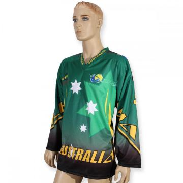 Factory directly for Women Ice Hockey Jersey Professional team green sublimation female hockey jerseys export to Syrian Arab Republic Factories