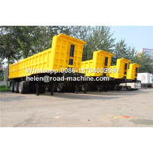 China for Semi Dump Trailers Tri Axle HYVA Cylinder Tipper Semi Trailer supply to Tonga Factories