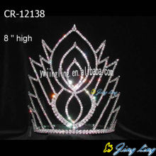 "8"" Rhinestone Crystal Princess Pageant Crowns"