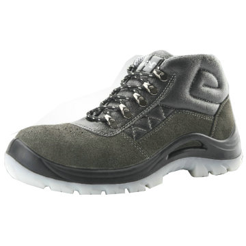 Green Suede Leather Upper Safety Shoes