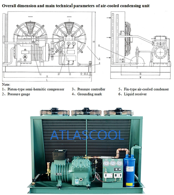 walk in freezer condensing unit