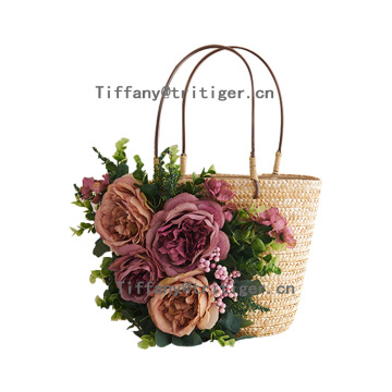Factory Wholesale Price grass bag Fashion Woven Straw Women Beach Bag