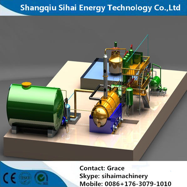 waste engine oil purifier by distillation process