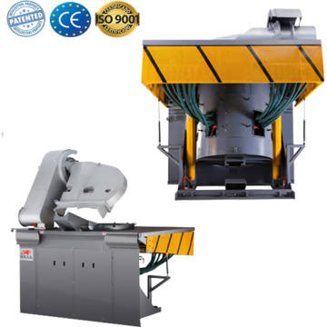 Electromagnetic cast steel melting furnace