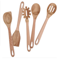 Wooden handle cooking utensils set of 5 pcs