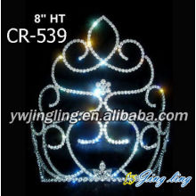 8 Inch Large International Cinderella Pageant Crowns