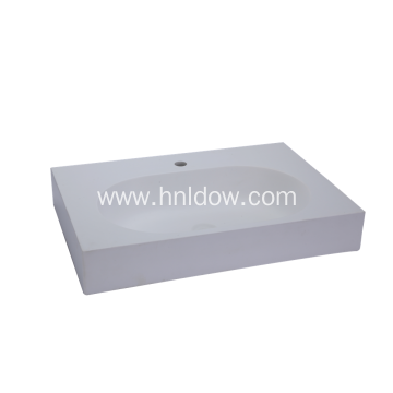 Discountable price for Countertop Washbasin Simple Solid Surface Rectangular Countertop Wash Basin supply to Kiribati Exporter