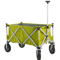 Folding frame beach wagon with big wheels