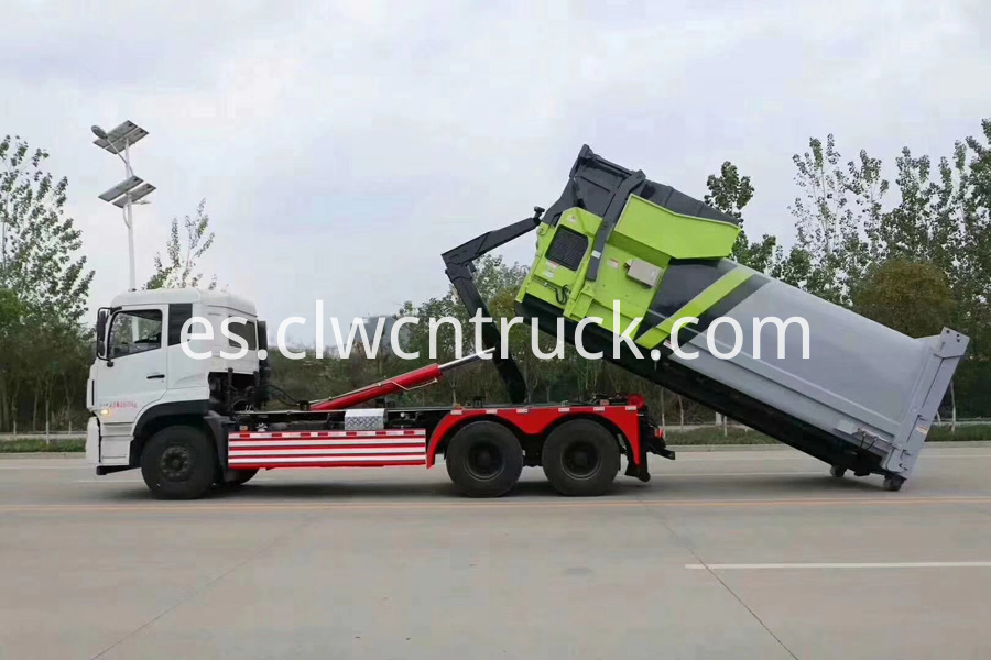 garbage container lift trucks