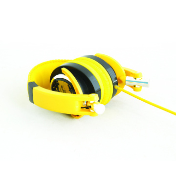 Metal headband headset with mic with cable