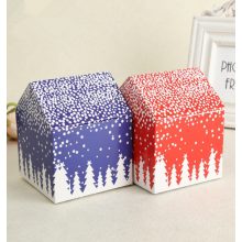 Custom Mini Unique Paper Christmas House Gift Box