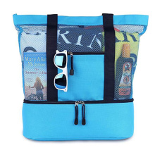 Newest waterproof Picnic Cooler Mesh Beach Tote Bag
