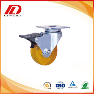 2 inch pvc wheel casters with brake