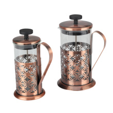 Stainless Steel Coffee Plunger Copper French Press