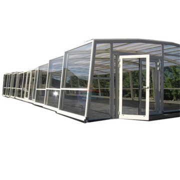 Pvc Waterproof Cover Aluminum Screen Pool Enclosure