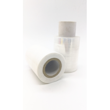 LLdpe transparent handle stretch film roll