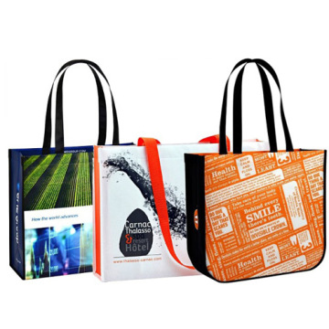 Laminated promotional bags for shopping & advertisement
