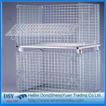 Supply for Collapsible Metal Storage Cage Warehouse Metal Storage Cages with 4 Wheels export to Cook Islands Importers