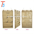 5 pocket multi-layer fabric debris storage wall hanging pockets organizer