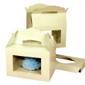 White Cardboard Paper with Window Bakery Pie Boxes