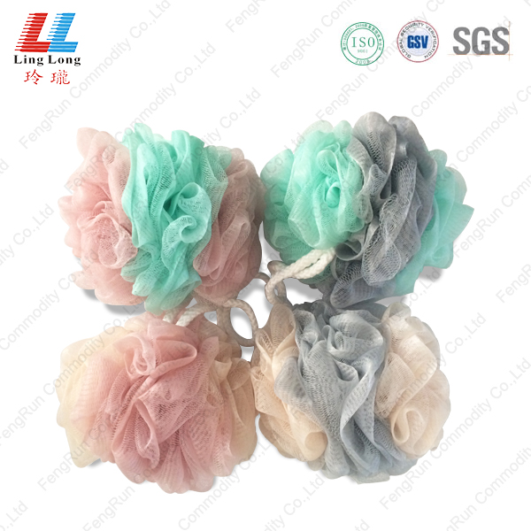 4 sides mesh united sponge ball
