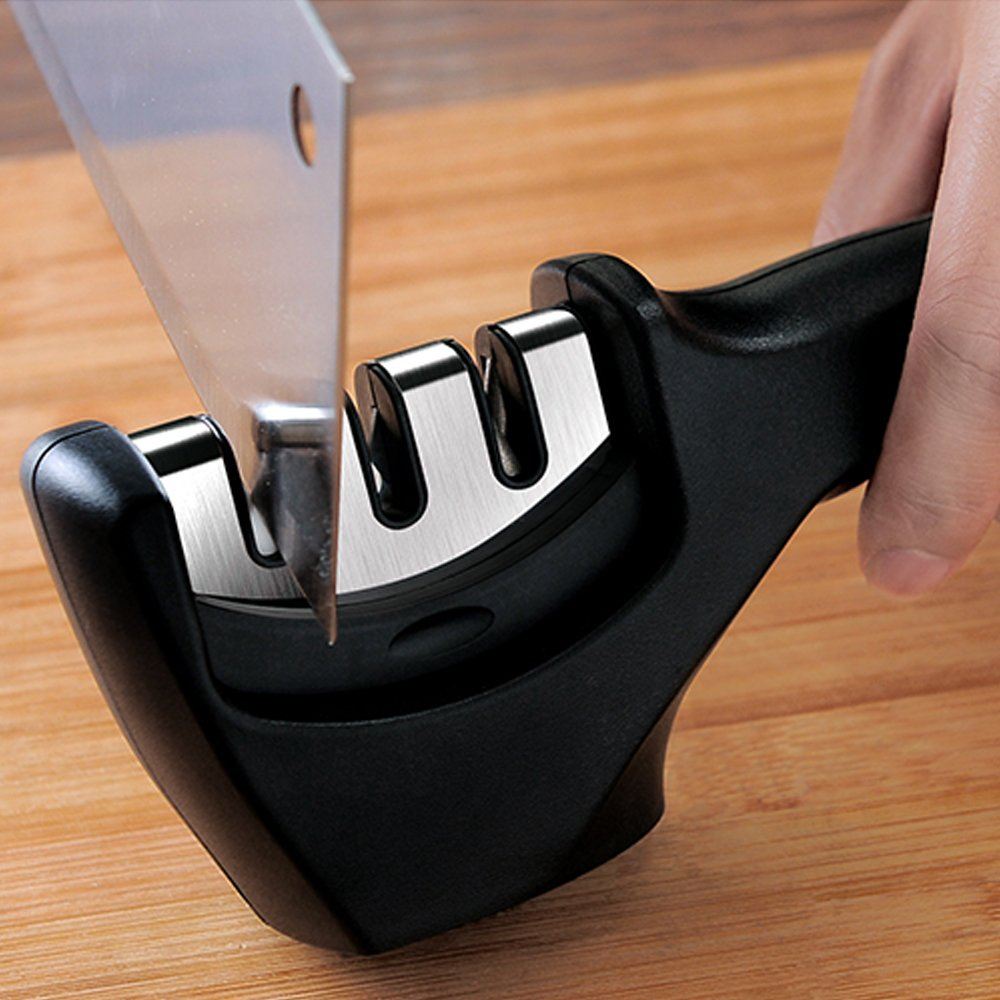 Professional 3 Stage Handheld Knife Sharpener