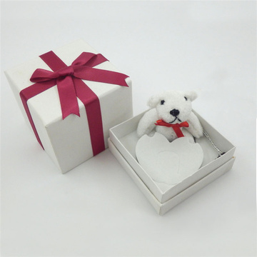 White Handmade Small Jewelry Wedding Gift Box