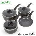 7 Pcs Marble Coated Induction Base Cookware Set