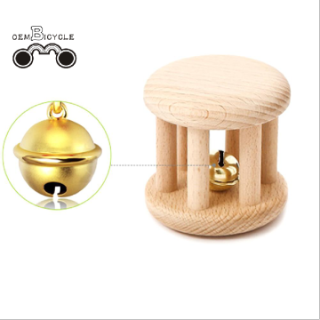 Baby wooden organic beech teething ring baby